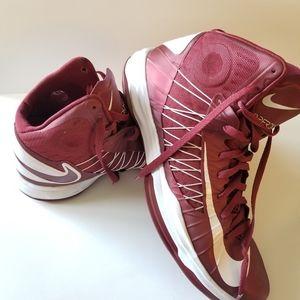 Nike Hyperdunk Maroon White basketball 14.5